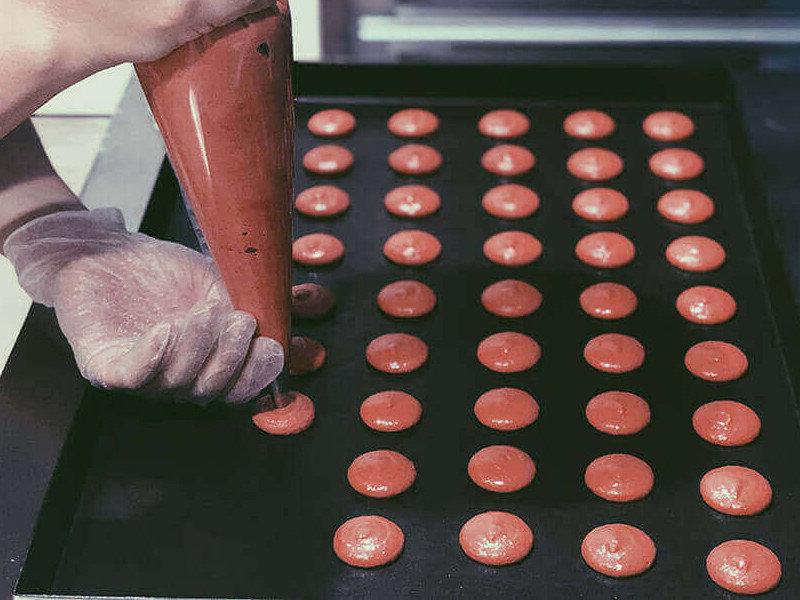 減糖馬卡龍作法-製作外殼小圓餅