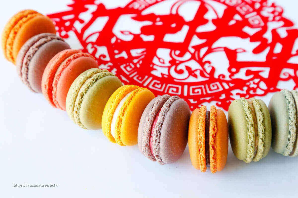 2021新年伴手禮禮盒推薦-Yuzu歡樂祥瑞團圓減糖馬卡龍特惠組 (買六送二)