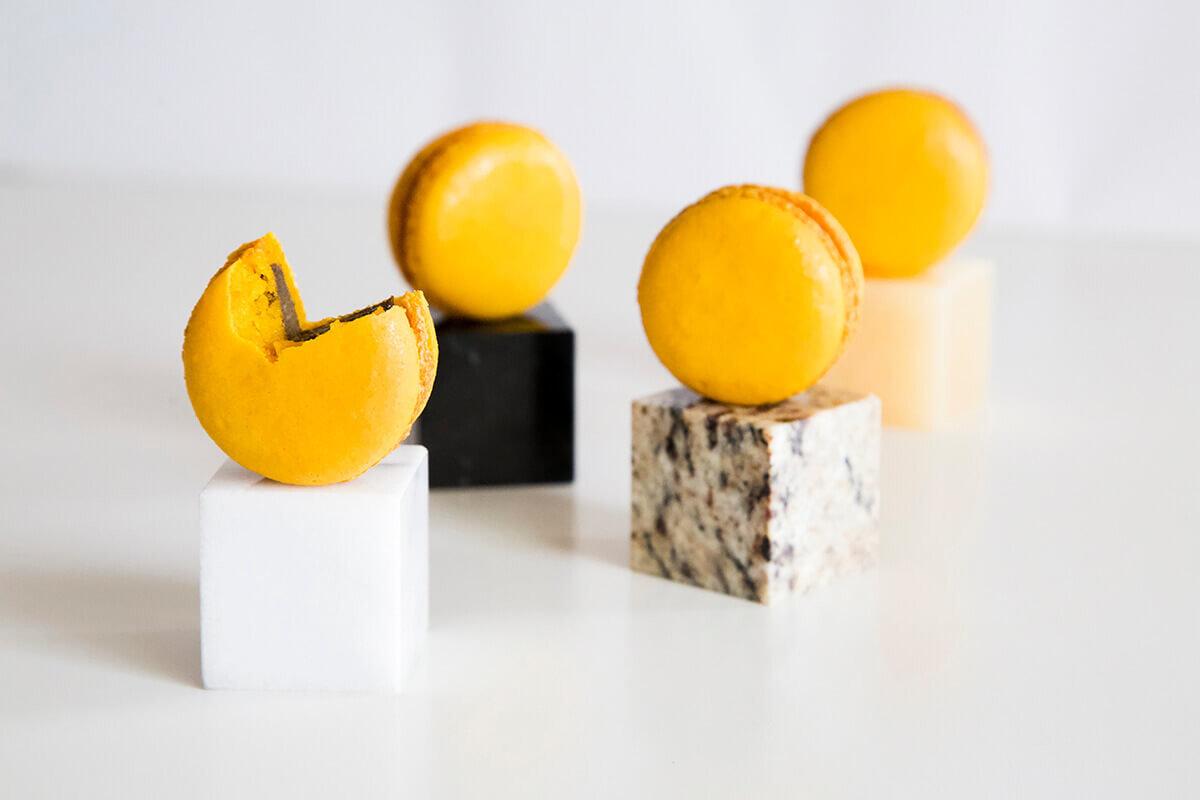 台中馬卡龍專賣店特選推薦-Yuzu鐵觀音奶酪減糖馬卡龍