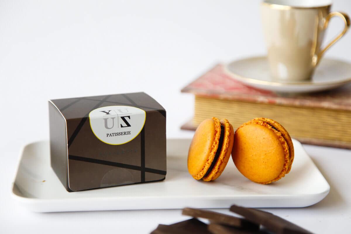 Yuzu減糖黑巧克力榛果馬卡龍-精選優質禮盒首選
