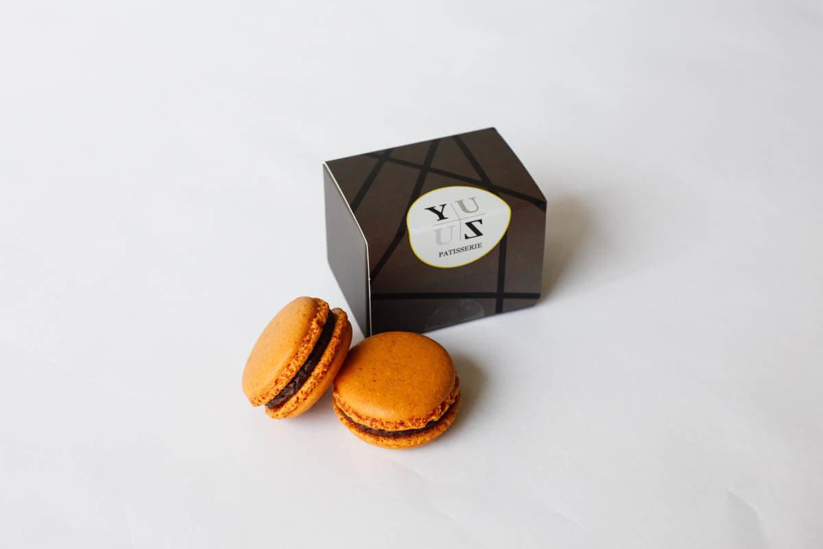 Yuzu減糖黑巧克力榛果馬卡龍-熱銷禮盒