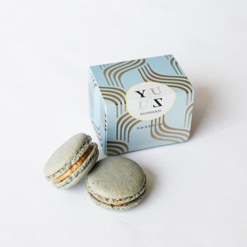 Yuzu焦糖海鹽減糖馬卡龍-獨創熱銷款 2顆/盒