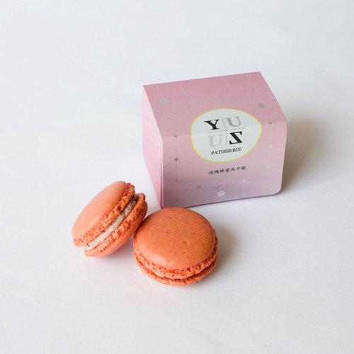 Yuzu玫瑰蜂蜜減糖馬卡龍-甜蜜表白款 2顆/盒