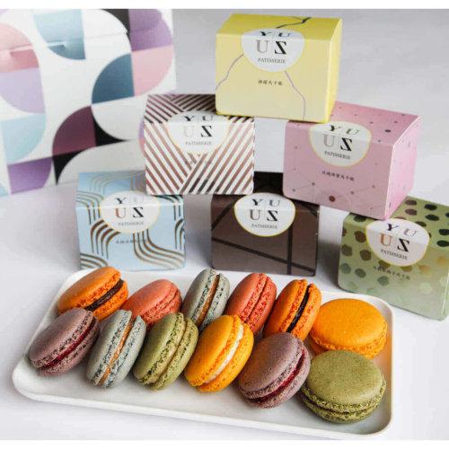 Yuzu人氣熱賣時尚減糖馬卡龍綜合組 (未含手提禮盒)