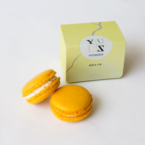 Yuzu檸檬減糖馬卡龍-經典水果款 2顆/盒